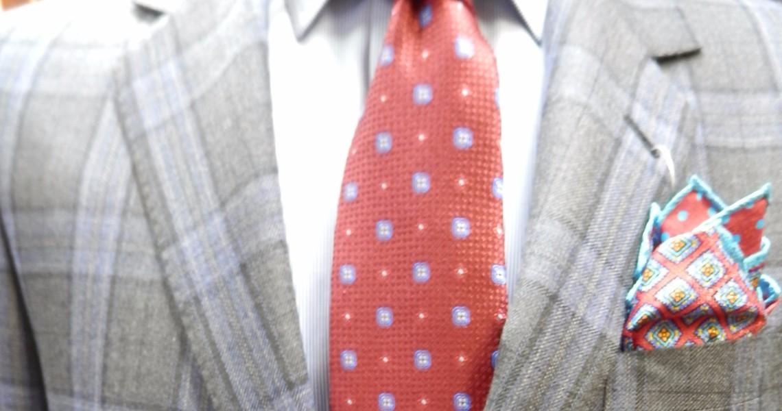 Woody's Mens Shop: Coppley Grey & Blue Plaid Suit Fall-2016